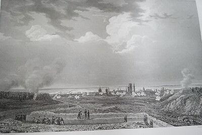 NAPOLEON SIEGE DE DANTZIG DANTZICK  GRAVURE 1838 VERSAILLES R1125 IN FOLIO