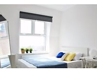 Double Bed in Rooms for rent in 5-bedroom flatshare with a large roof-terrace in Hampstead