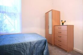 Inviting room with window with courtyard view in shared flat, Camden