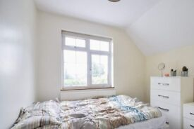 Decorated room with built-in wardrobe in 5-bedroom flat, Acton