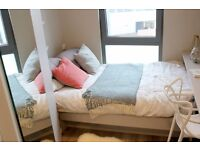 Double Bed in Ensuite Rooms for Rent for Students and Workers in a New Residence Hall