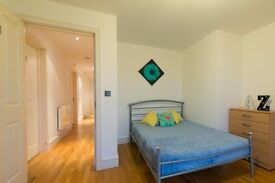 Double Bed in Rooms for rent in a modern 3-bedroom flat with balcony in Limehouse