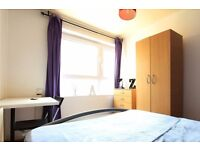 Double Bed in Rooms to rent in cosy 5-bedroom house with garden in Stoke Newington