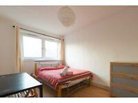 Exterior room with desk in 4-bedroom flat, Tower Hamlets