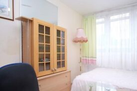 Ample room with chest of drawers in 5-bedroom flat, Southwark