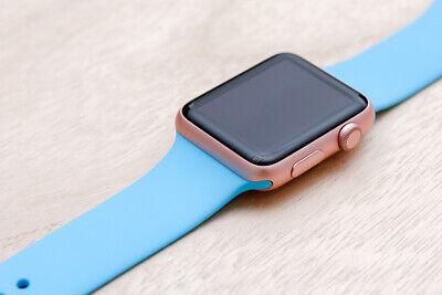 Apple Watch Series 1 38mm Rose Gold Aluminium Case BLUE Sport Band