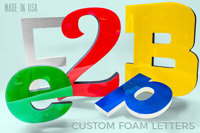 Foam With Acrylic Sign Letters Custom Outdoor Storefront Signage