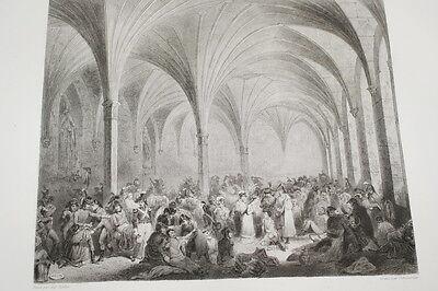 NAPOLEON HOPITAL RUSSE FRANCAIS MARIENBOURG GRAVURE 1838 VERSAILLES R1133