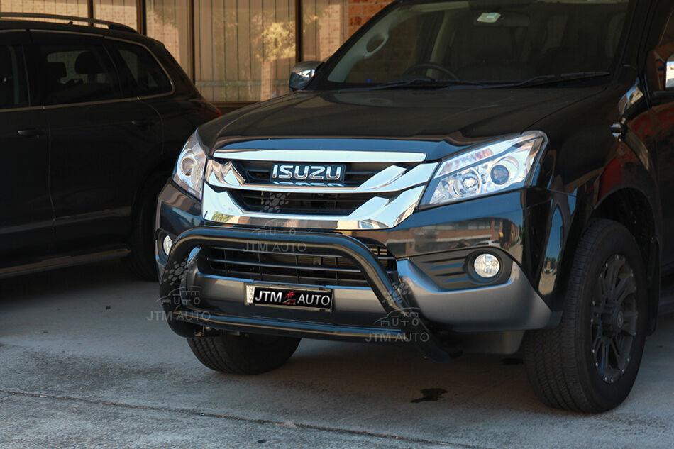 To suit Isuzu MUX MU-X Nudge Bar Black Grille Guard 2013-2018