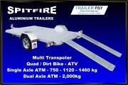 Flat Trailer - Spitfire 10x5 750kgs Single Axle Melbourne Region Preview