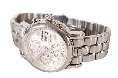 MONTBLANC $2900 MEISTERSTUCK STAR 4810 501 STAINLESS CHRONOGRAPH MENS WATCH
