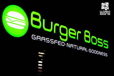 Custom Channel Letters Led Illuminated Signs For Business Outdoor Signage