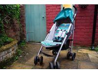Joie Nitro Stroller Aqua / pram in very good condition with rain cover