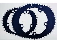 Osymetric Oval Chainrings BCD130 52-42T V.G.C. £240 Super Fast Nice Looking like Rotor Q ring