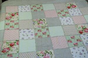 100% Cotton Quilted patchwork Bedspread-3pc queen  Free postage Westmead Parramatta Area Preview