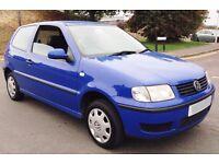 Cheap First Car 51 Volkswagen Polo 6N2 1 Litre 3 Door Low Mileage Mot (px corsa yaris micra clio)