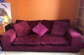 Good Quality 3 Seater Velvet Sofa
