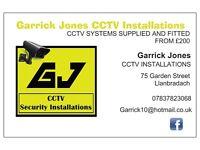 Garrick jones CCTV installations from £200 fitted