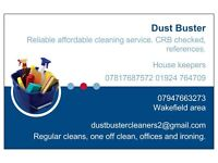 Dust Buster cleaning service.