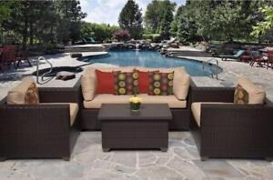 Belle 4 Pc Outdoor Sofa Set (1 only)