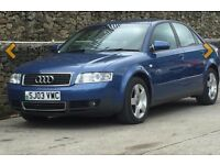 AUDI A4 T SE 1.8 PETROL 4DR SALOON BLUE QUICK SALE DUE TO UPGRADE