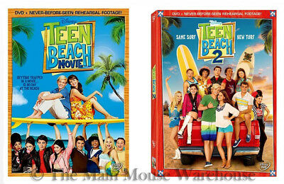 Disney Channel Teenager Biker Surfer Musical Surf Teen Beach Movie 1 & 2 on DVD - Teen Beach Biker