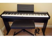Casio CDP-100 Digital Piano with stand, seat & accessories