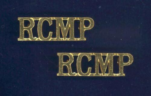 Obsolete- Royal Canadian M.P. - matched PAIR of gold-plated/gilt shoulder badges