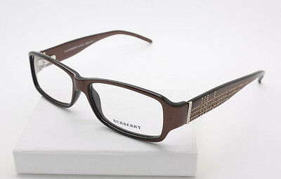 Burberry B 8467/U 0N3D Chocolate / Gold Plastic Eyeglasses Size 53-13-135 mm