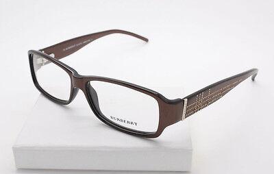 Burberry B 8467/U 0N3D Chocolate / Gold Plastic Eyeglasses Size 53-13-135 mm