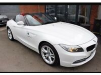 Beautiful BMW Z4 white convertible red leather 24000 miles for sale!
