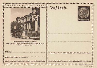 D.Reich Ganzsache P 236 SCHWEIDNITZ ungebraucht (43433)