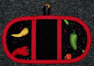 Finger Mitt Chili Peppers Veggies Oven Fingermitt Pot Holder Potholder Handmade