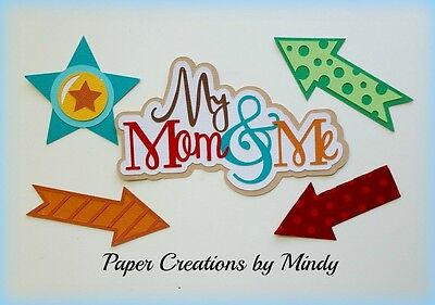 Craftecafe Mindy mom boy girl title premade paper piecing for scrapbook page