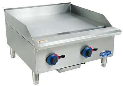 """GLOBE 24"""" CHEFMATE COUNTERTOP GAS GRIDDLE - NATURAL GAS - C24GG"""