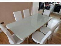 BRAND NEW EXTANDABLE TURKISH DINING TABLE WITH 6 CHAIRS