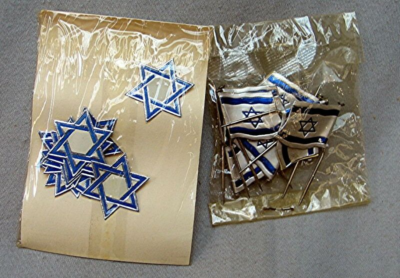 Vintage Lot Star of David and Israel Flags *3/18*
