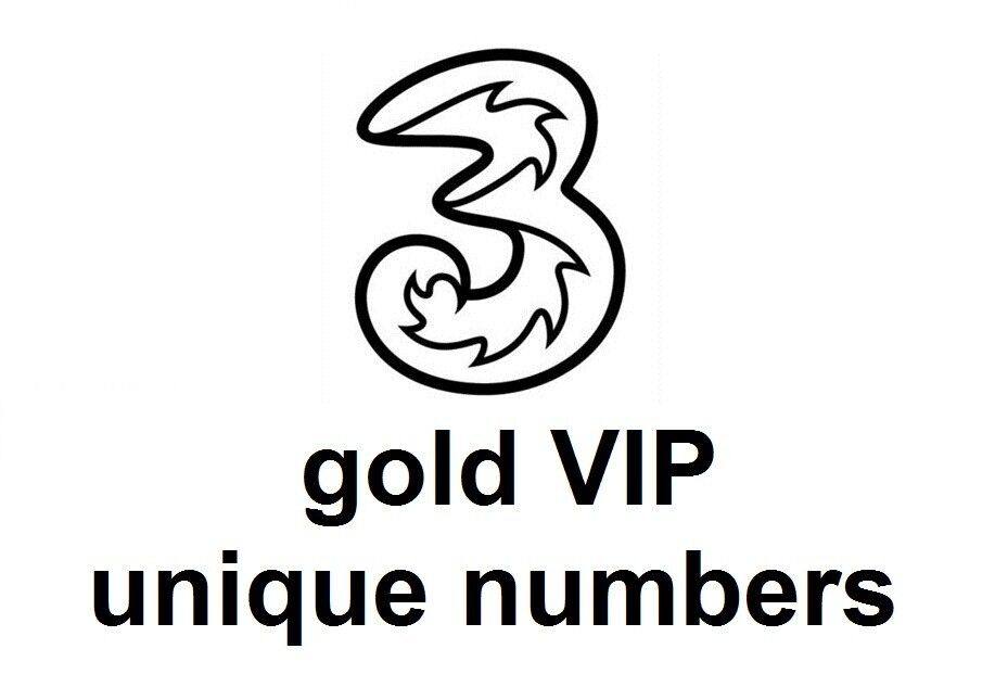 gold vip easy to remember unique numbers on three (3) network