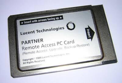 Avaya Lucent Att Partner Pcmcia Remote Access Pc Card