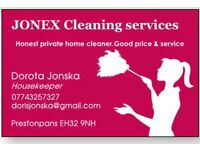 JONEX-cleaning services,honest private home cleaner.East Lothian