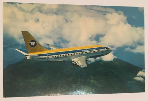 Купить Wien Consolidated Airplane Postcard Boeing 737 Twin Jet RPPC Alaska Airlines
