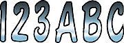 """3"""" Letter Registration Kit Number Sticker Decals Boat PWC Chrome Black Reg"""