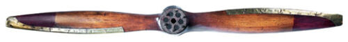 "Decorative WWI Wooden Biplane Propeller 73"" Vintage Airplane Wall Decor AP158"
