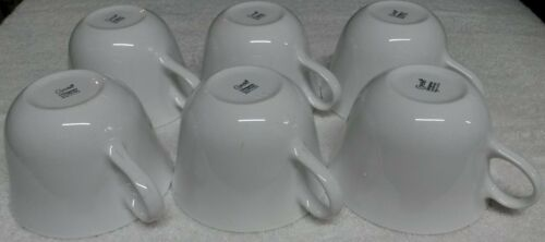 (10) Corelle Corningware Winterfrost White Cups Mugs Winter frost Rounded Handle