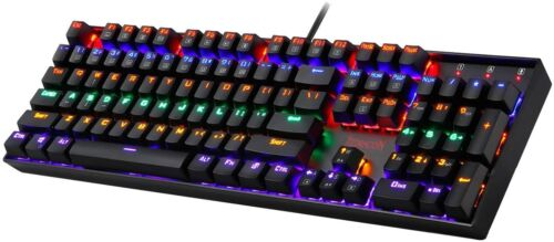 Redragon K551-KR Mechanical Gaming Keyboard RGB LED Rainbow Backlit 104 Keys
