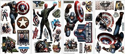 The Avengers Captain America Wall Decal Sticker Super Hero Comic Peel and stick  - Avengers Wall Decal