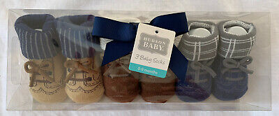 Baby Hudson 0-9 Months Socks Booties. Great Baby Shower Gift