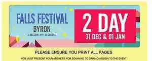 2 Day Falls Festival Ticket - Byron Bay 31st & 1st Byron Bay Byron Area Preview