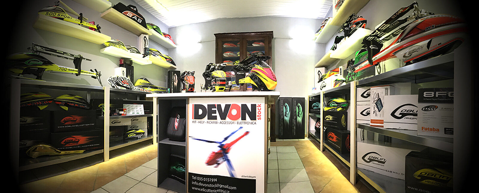 Elicotteri-Elettrici Rc Devon-Stock