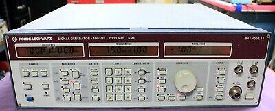 Rohde Schwarz Smh Signal Generator 100 Khz - 2000 Mhz